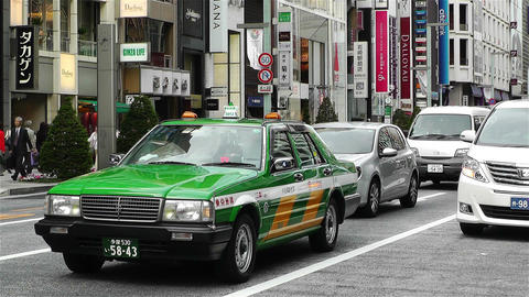 Tokyo Ginza Japan 6 Stock Video Footage