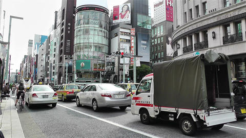 Tokyo Ginza Japan 8 Stock Video Footage