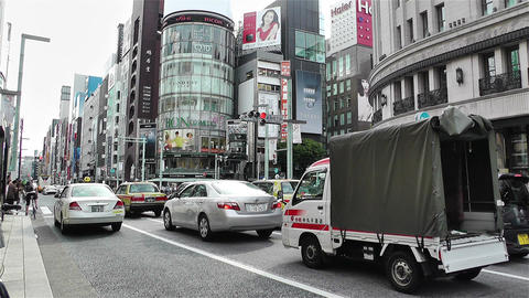 Tokyo Ginza Japan 8 Footage