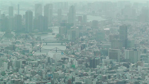 Tokyo Skytree Oshiage Aerial View to Tokyo 2 Footage