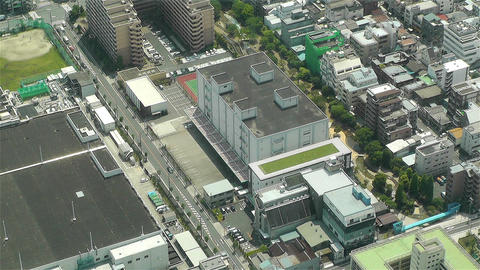 Tokyo Skytree Oshiage Aerial View to Tokyo 4 Stock Video Footage