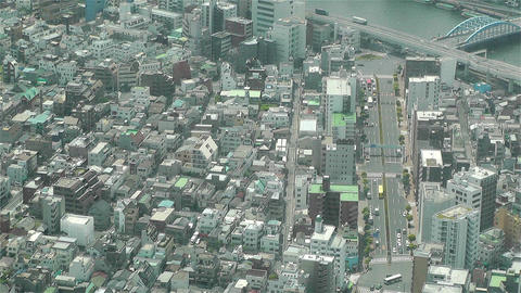Tokyo Skytree Oshiage Aerial View to Tokyo 6 Stock Video Footage