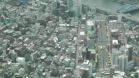 Tokyo Skytree Oshiage Aerial View to Tokyo 6 Footage