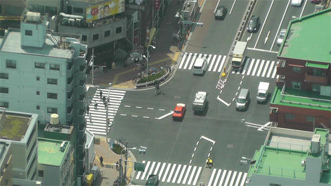 Tokyo Skytree Oshiage Aerial View to Tokyo 8 Stock Video Footage