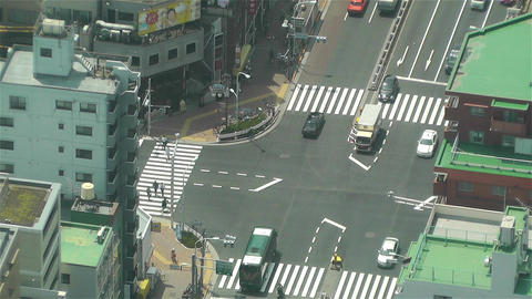 Tokyo Skytree Oshiage Aerial View to Tokyo 8 Footage