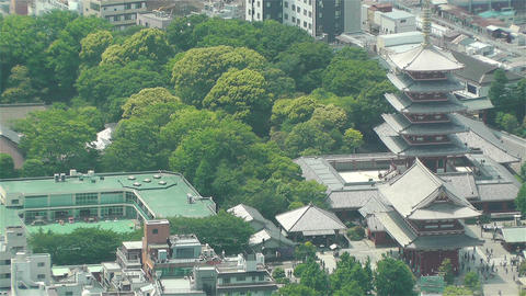 Tokyo Skytree Oshiage Aerial View to Tokyo 15 Stock Video Footage
