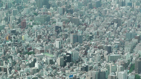 Tokyo Skytree Oshiage Aerial View to Tokyo 21 Stock Video Footage