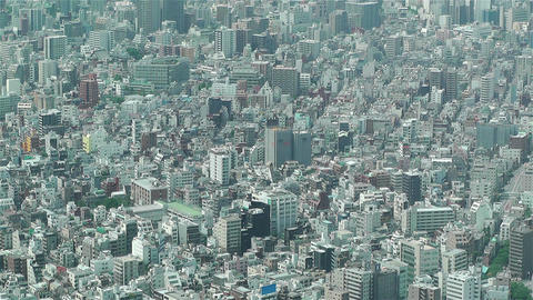 Tokyo Skytree Oshiage Aerial View to Tokyo 21 Footage