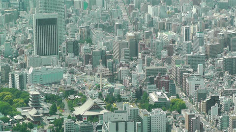 Tokyo Skytree Oshiage Aerial View to Tokyo 25 Stock Video Footage