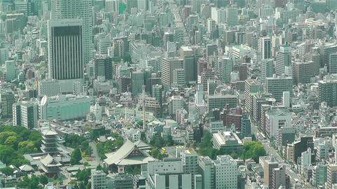 Tokyo Skytree Oshiage Aerial View to Tokyo 25 Footage