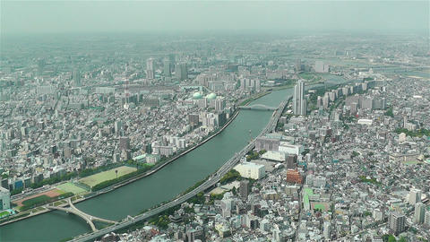 Tokyo Skytree Oshiage Aerial View to Tokyo 27 Stock Video Footage