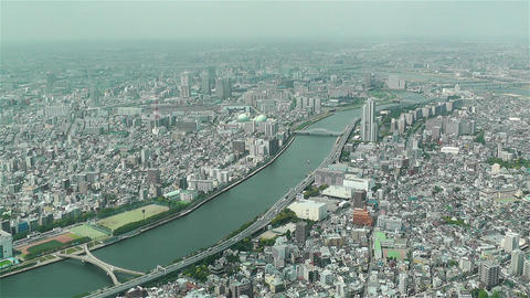 Tokyo Skytree Oshiage Aerial View to Tokyo 27 Footage