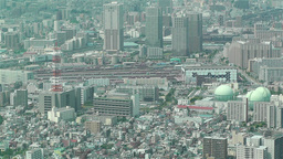 Tokyo Skytree Oshiage Aerial View to Tokyo 29 Stock Video Footage