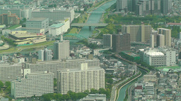 Tokyo Skytree Oshiage Aerial View to Tokyo 33 Stock Video Footage