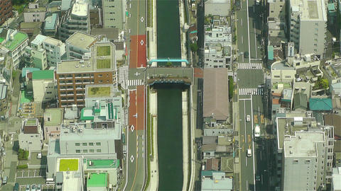 Tokyo Skytree Oshiage Aerial View to Tokyo 35 Stock Video Footage