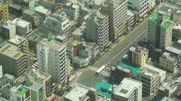Tokyo Skytree Oshiage Aerial View to Tokyo 37 Stock Video Footage