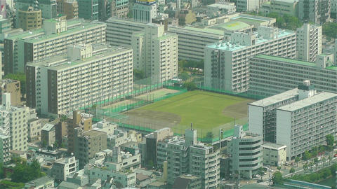 Tokyo Skytree Oshiage Aerial View to Tokyo 40 Stock Video Footage