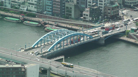 Tokyo Skytree Oshiage Aerial View to Tokyo 42 Stock Video Footage