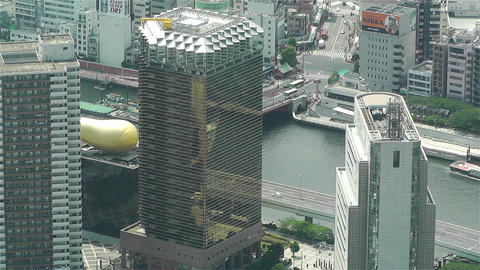 Tokyo Skytree Oshiage Aerial View to Tokyo 47 Stock Video Footage