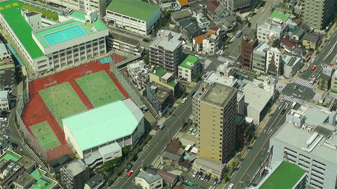 Tokyo Skytree Oshiage Aerial View to Tokyo 50 Stock Video Footage