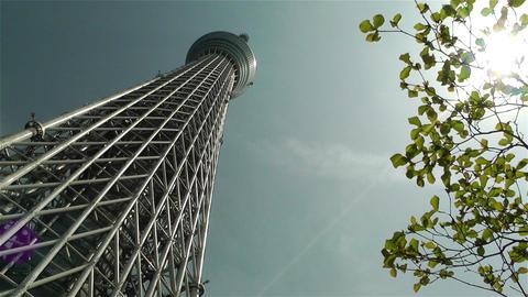 Tokyo Skytree Oshiage Japan 1 Stock Video Footage