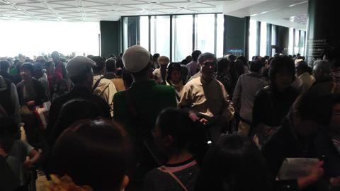 Tokyo Skytree Oshiage Waiting Line 2 Stock Video Footage