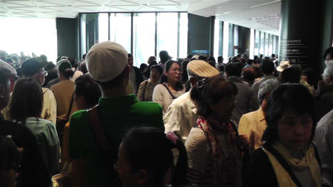 Tokyo Skytree Oshiage Waiting Line 2 Stock Video Footage