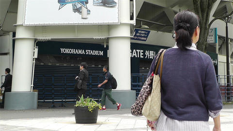 Yokohama Baseball Stadium Japan 4 Footage