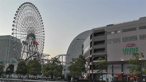 Yokohama Cosmoworld Japan 1 Stock Video Footage