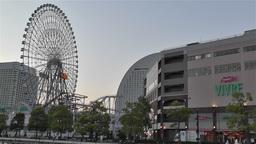 Yokohama Cosmoworld Japan 1 Stock Video Footage