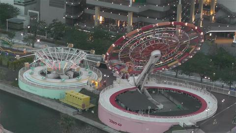 Yokohama Cosmoworld Japan 5 Stock Video Footage