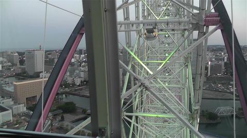 Yokohama Cosmoworld Japan 8 Stock Video Footage