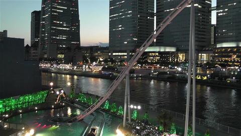 Yokohama Cosmoworld Japan 14 Stock Video Footage
