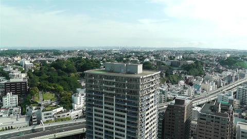 Yokohama Japan Aerial 1 Stock Video Footage