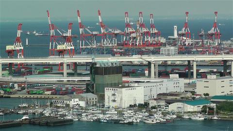 Yokohama Japan Aerial 7 Stock Video Footage
