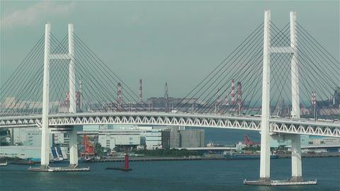 Yokohama Japan Aerial 11 Stock Video Footage