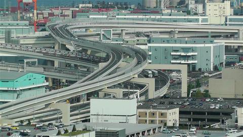 Yokohama Japan Aerial 13 Stock Video Footage