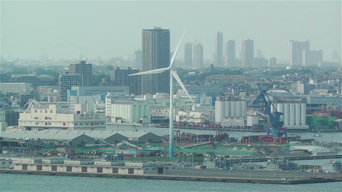 Yokohama Japan Aerial 15 Stock Video Footage