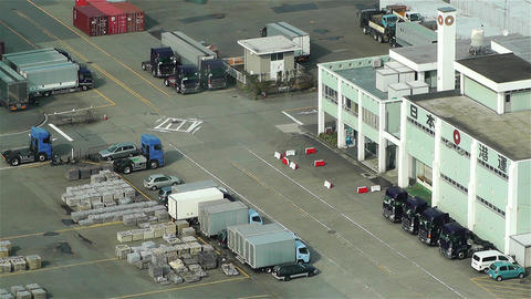 Yokohama Japan Aerial 17 Stock Video Footage