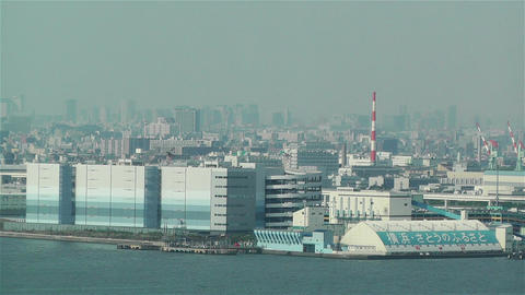 Yokohama Japan Aerial 21 Stock Video Footage