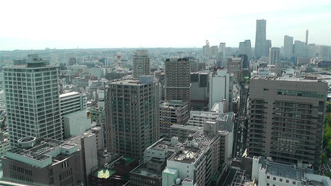 Yokohama Japan Aerial 23 Stock Video Footage