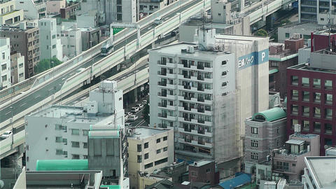 Yokohama Japan Aerial 27 Stock Video Footage