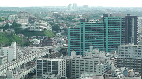 Yokohama Japan Aerial 29 Stock Video Footage