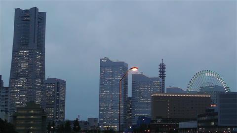 Yokohama Japan at Night 2 Animation
