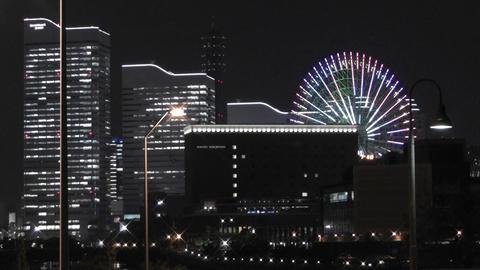 Yokohama Japan at Night 4 Stock Video Footage