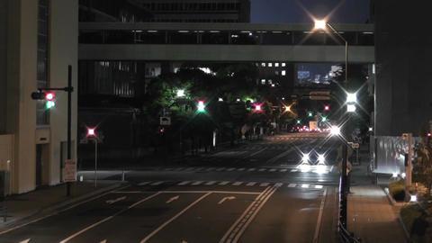 Yokohama Japan at Night 6 Stock Video Footage
