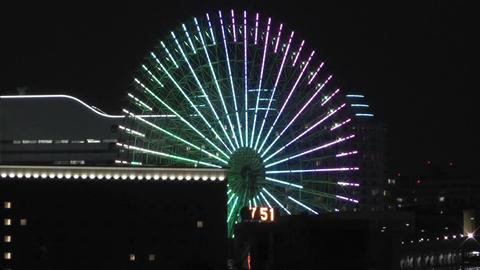 Yokohama Japan at Night 9 Footage