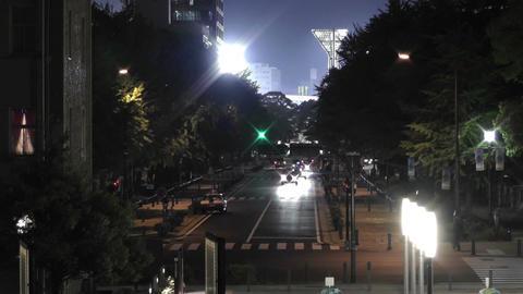 Yokohama Japan at Night 14 Stock Video Footage