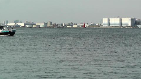Yokohama Japan Port 2 ship Stock Video Footage