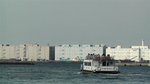 Yokohama Japan Port 4 ship Stock Video Footage
